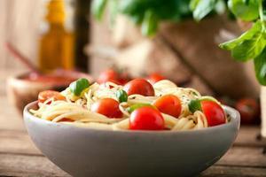 pâtes à l'huile d'olive