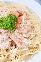 pâtes aux crevettes photo