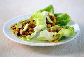 Wrap végétarien à la laitue photo