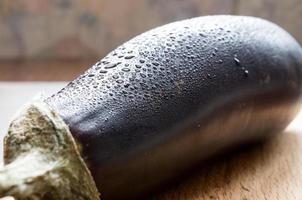 aubergine humide photo