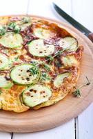 courgette, omelette aux épinards et romarin