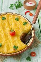 casserole avec pommes de terre et viande hachée
