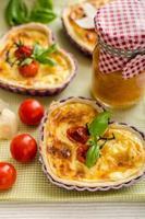 quiche au fromage et tomates cerises
