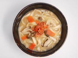 miso lait de soja udon photo