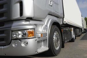 concept de châssis de camion, gros plans