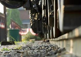 roues de train photo