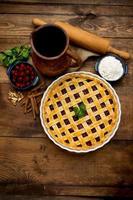 tarte aux cerises maison photo