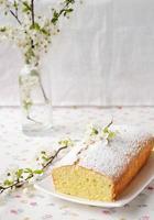 petit gâteau avec du fromage cottage photo