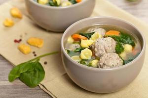 soupe de boulettes de viande de poulet