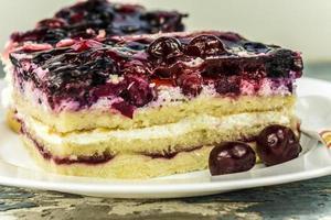 gâteau aux cerises photo