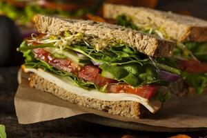 sandwich végétarien végétarien sain