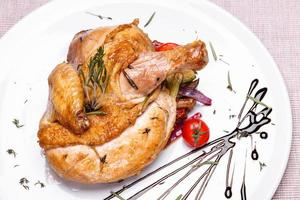poulet rôti au romarin