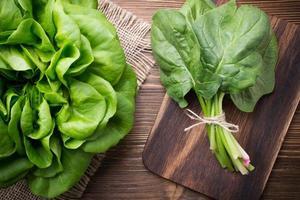 des légumes.