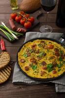 omelette pour homme au chorizo photo