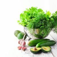 mélange de légumes verts photo