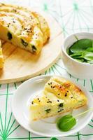 tarte au fromage et aux épinards photo