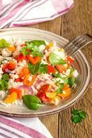 risotto aux légumes photo