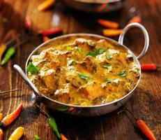 cuisine indienne - plat de curry saag paneer photo