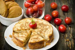 gâteau au fromage en marbre café photo