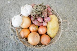 légumes dans le panier photo