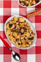 dessert crumble aux pommes photo
