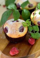 muffins aux framboises photo