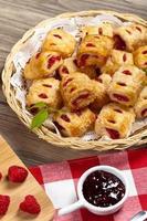 pâtisseries aux framboises