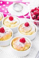 gâteaux aux framboises photo