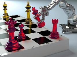 robot et échecs. photo