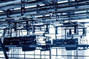 atelier de production de camionnettes photo