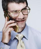 homme d'affaires sur téléphone portable photo