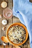 quinoa aux champignons et à l'ail photo