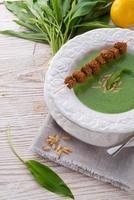 soupe à l'ail sauvage photo