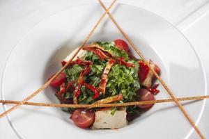 salade de laitue et tomate