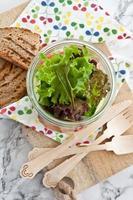 couche de salade en pot vintage photo