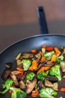 Agité aux légumes