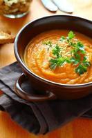 soupe à la crème de potiron au persil
