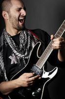 joueur de guitare rock
