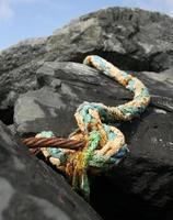 corde sur rocher