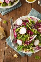 salade d'herbes maison saine photo