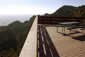 vue spectaculaire sur la montagne photo