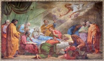 rome - la dormition de la vierge marie fresque