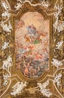 rome - le plafond fresque triomphe de la vierge photo