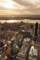 Coucher de soleil sur la rivière Hudson photo