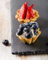 gâteaux aux petits fruits frais