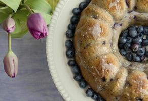gâteau Bundt aux bleuets