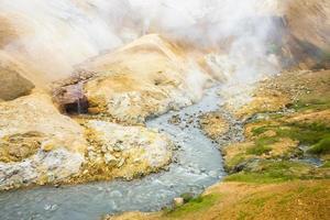Hveradalir, Hot Spring Valley dans la région de Kerlingarfjoll, Islande