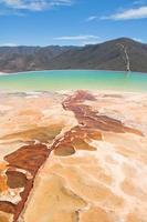 hierve el agua, source thermale à oaxaca (mexique) photo