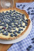 tarte aux myrtilles et vanille