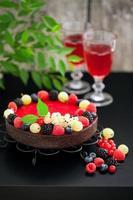 tarte au chocolat et aux framboises photo